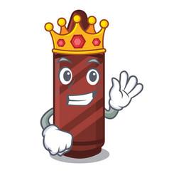 king brown crayon in cartoon shape vector image