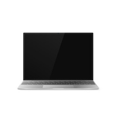 laptop front view laptop with shadow isolated on vector image