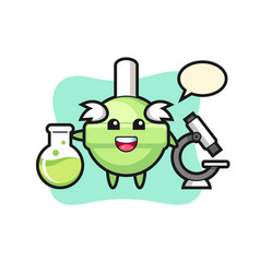Mascot character lollipop as a scientist vector