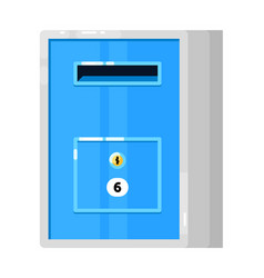 Metal mailbox with apartment address isolated vector