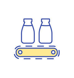 Milk manufacturing technology rgb color icon vector