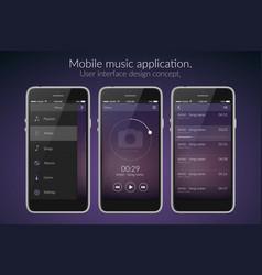 mobile application design concept vector image