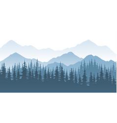 mountain forest - landscape vector image