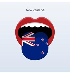 New Zealand language Abstract human tongue vector image