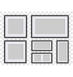 photo frames isolated set vector image