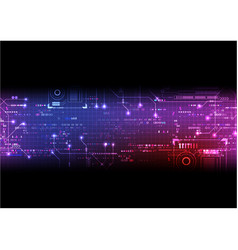 Pink purple pixel digital circuit background vector