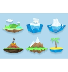 poly islands set vector image