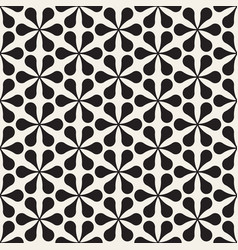 seamless floral mosaic pattern modern abstract vector image