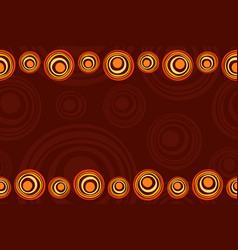 Seamless horizontal border pattern with suns vector