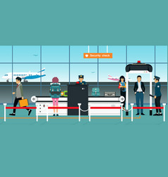 security checkpoint vector image