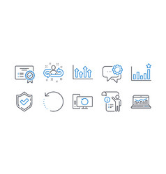 Set education icons such as confirmed manual vector