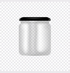 set glass jars for canning and preserving vector image