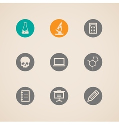 set of education and science icons vector image