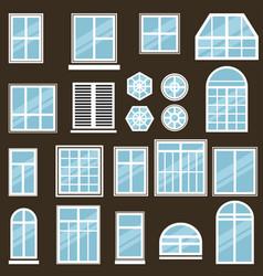 set window icons vector image