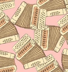 Sketch accordion music instrument vector image