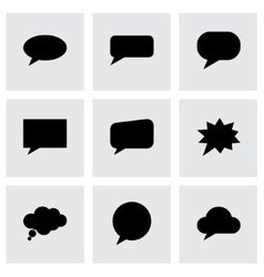 speach bubbles icon set vector image