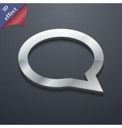 Speech bubble icon symbol 3D style Trendy modern vector image