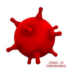 Symbol covid-19 infection coronavirus 2019-ncov vector