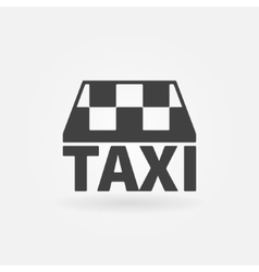 Taxi icon or logo vector