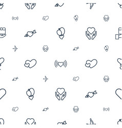 valentine icons pattern seamless white background vector image