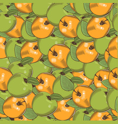 Vintage apple seamless pattern vector