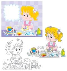 Washing-up vector image