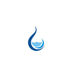 Water drop abstract droplet logo vector