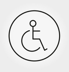 Wheelchair disabled person icon human on vector