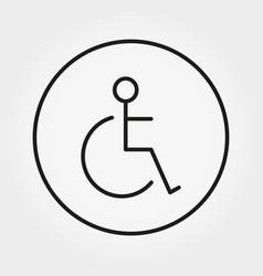 Wheelchair disabled person icon human vector