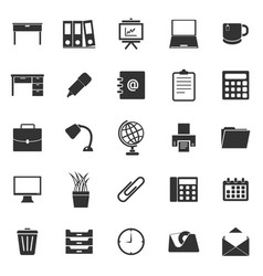 Workspace icons on white background vector