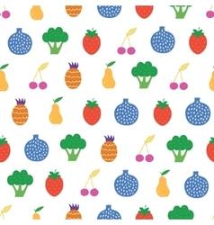 Yummy Fruit Veggies Seamless Pattern vector image
