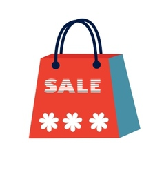 Concept card for sales Shopping bag with Sale vector image