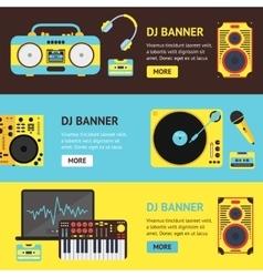 Dj Audio Music Equipment Banner vector image