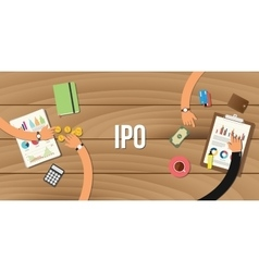 ipo initial public offering vector image