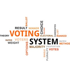 word cloud voting system vector image