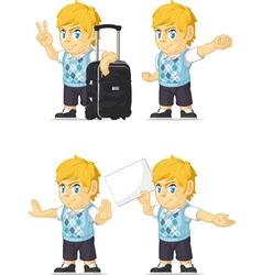 Blonde Rich Boy Customizable Mascot 15 vector image vector image