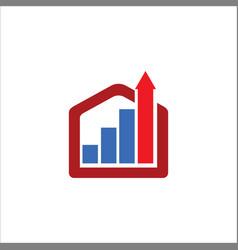 business construction arrow logo vector image vector image