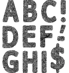fingerprint ABC vector image