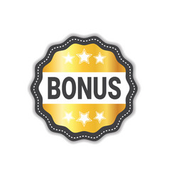 bonus label sticker golden icon seal sale sign vector image vector image