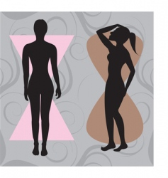 hour glass body vector image vector image