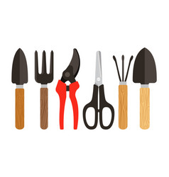 houseplants tools flat icons vector image vector image