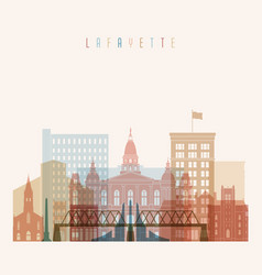 Lafayette state indiana skyline vector