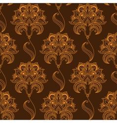 Oriental stylized paisley flourish seamless vector