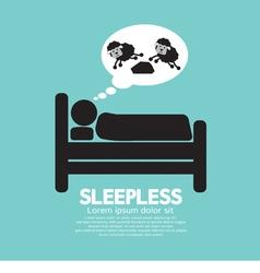 Sleepless Person Symbol vector image