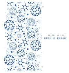 blue molecules texture vertical frame seamless vector image vector image