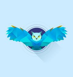 hypnotic owl vector image vector image