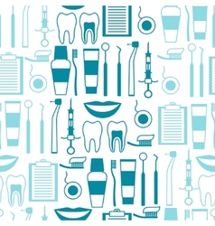 Medical seamless pattern with dental equipment vector image vector image