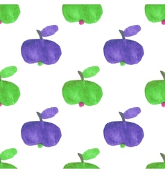 Seamless watercolor pattern with funny green and vector image vector image