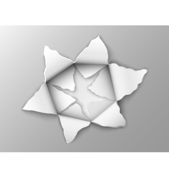 Two layers of punched steel plate vector