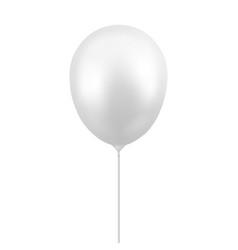 3d realistic glossy metallic white balloon vector image